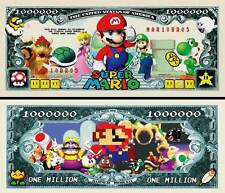 Mario Brothers Million Dollar Collectible Funny Money Novelty Note