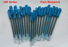20 x Blue Medium Ball Pens Crystal Biros In Blue Excellent Quality Cheap Price