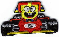 SPONGEBOB RACE CAR #5 EMBROIDERED PATCH !