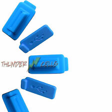 5x Blue Anti-Dust USB Silicone Rubber Plug Cover Stopper for Computer Laptop PC