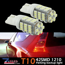 2X T10 42-SMD LED White Super Bright Car Reverse Light Bulb 3528 W5W 194 921 168