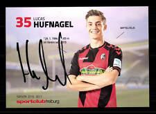 Lucas Hufnagel Autogrammkarte SC Freiburg 2016-17 Original Signiert+A 143388