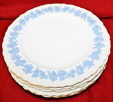 Vintage English Wedgwood Queensware Lavender on Cream Set 8 Lunch Plates