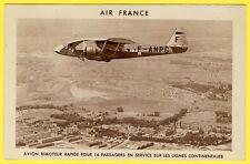 cpa AIR FRANCE POTEZ 62S AVION BIMOTEUR Rapide 14 PASSAGERS LIGNES CONTINENTALES