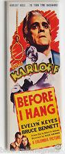 Before I Hang FRIDGE MAGNET insert movie poster horror Boris Karloff