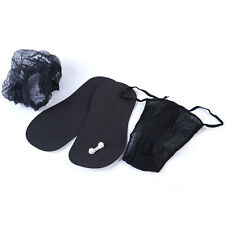 Spray Tan Disposable Sticky Feet Black, Black Thongs, Black Mob Caps Tanning Kit