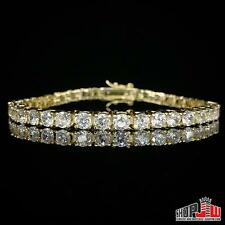 "Gold Plated Simulated Diamond One 1 Row Tennis Bracelet Mens Ladies 7"" Migos"