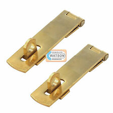 2x 63mm OTTONE SOLIDO SERRATURA & CERNIERA Piccolo/Mini Ante Armadietto/