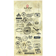 Stamp Style Transparent Diary Deco Stickers Labels Scrapbook Journal
