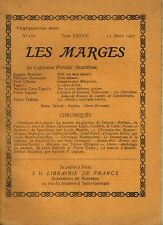 LES MARGES n° 153 - Tome XXXVIII - mars 1927