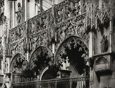 1927 Vintage FRANCE Troyes Sainte-Madeleine Church Architecture Photo HURLIMANN