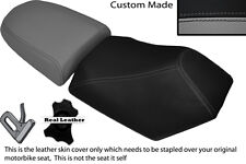 BLACK & GREY CUSTOM FITS BAOTIAN FALCON 50 2 PIECE DUAL SEATS COVERS