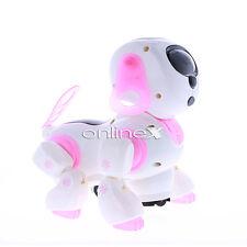 Perro Robot Rosa Ciber Mascota Electrónica con Luces a1732