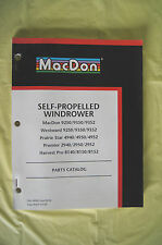 MacDon Self Propelled Windrower parts catalog Westward Prairie Star Premier 2002