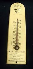 VTG Advertising Thermometer Permacolor Meyer NY Insignia Merit Military Army US
