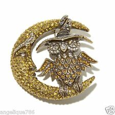 Heidi Daus Moonlighting Crystal Pin EXQUISITE SWAROVSKI CURRENTLY ON HSN $139.99