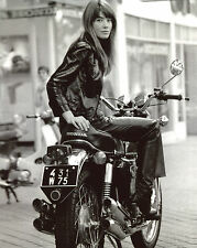 Françoise Hardy on Motorcycle 8x10 photo T3451