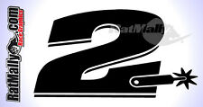 COLIN EDWARDS #2 WSBK MOTOGP STYLE RACE NUMBERS DECALS STICKERS GRAPHICS x2