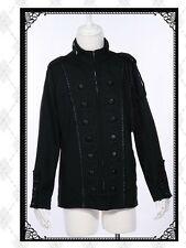 Men's Gothic Military Jacket black industrial Small goth