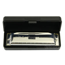 New Swan Harmonica 10 Holes Key of C for Blues Rock Jazz Folk Harmonicas Silver