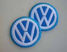 IRON GLUE BACK VOLKSWAGEN VW EMBLEM  LOGO BADGE BUG  COX VINTAGE ACCESSORY NOS