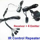IR Infrared Remote Extender Control System Repeater 4 Emitter 1 Receiver U104 AU