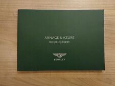 Bentley Azure/Arnage NEW Service History Book