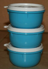 Tupperware Ideal Lil Bowls 3pc Set Kids Snacks Liquid Tight Seals BPA Free New