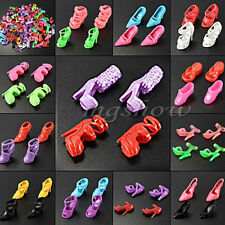 10Sets Fashion Party Ball Daily Wear Dress Outfits Clothes Shoes For Barbie Doll