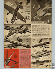 1963 PAPER AD Toy Airplane Plane Helldiver Super Sabre Boeing 707 Flying Tiger