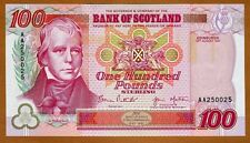 Bank of Scotland, 100 pounds, 1997, P-123b AA-pref., UNC   Commemorative, Rare