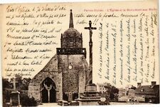 CPA Perros Guirec-L'Église et le Monument aux Morts (230614)