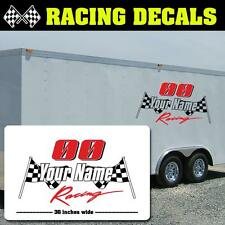 Race Team Trailer Decal, Racing Trailer Sticker, Race Team Name Trailer Decals