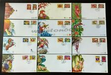 Singapore Zodiac 1996 to 2007 Rat Ox Tiger Rabbit Dragon Monkey Pig 12 Years FDC