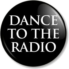 """DANCE TO THE RADIO Joy Division 1"""" Pin Button Badge Transmission Song Band Black"""