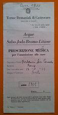 Terme Demaniali di Castrocaro 1955: Prescrizione Medica per le cure