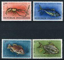 INDONESIE: ZB 391/394 MNH** 1963 Inheemse vissen