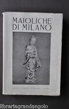 Storia Locale Ceramica Invetriata Rinascimento Maiolica Maioliche Milano 1940