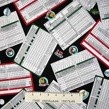 Sports Fabric - Hole in One Golf Course Cards Black - Windham YARD