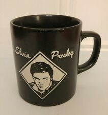 Elvis Presley Black Embossed Coffee Tea Mug Cup 3 1/2""
