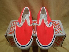 NOS VINTAGE 1980S VANS NEON ORANGE BOYS SIZE 4 SK8 BMX SHOES Collectibles