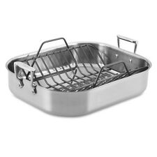 "All-Clad 14"" x 11"" Stainless-Steel Small Roaster with Rack"