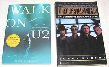 2--BOOKS ON U2--WALK ON U2 AND UNFORGETTABLE FIRE