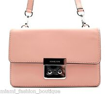 Michael Kors Sloan Small Gusset Crossbody Messenger Shoulder Bag Pale Pink NWT