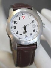 SWISS ARMY Victorinox Ladies White Face Calendar Luminous Hands Watch 260025.BC