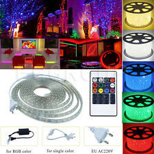 Bright SMD-5050 300-1200 LED Lamps Strip String Lights Tape Rope & Remote & Plug