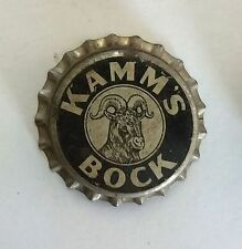 UNUSED cork lined cap crown KAMM'S Bock BEER can bottle label cone paper sign