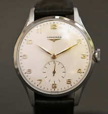 1959 Vintage LONGINES 12.68Z 17J LARGE SWISS MEN WATCH STAINLESS STEEL