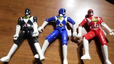 1995 Mighty Morphin Power Rangers Lot o 3 - 4 and 1/2  inch Action Figures