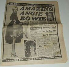 DAVID BOWIE - Original 7 Page Pull outs September 1980 - Angie Bowie Exclusive